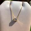 .70ct French Cut Diamond Bezel Pendant, 18kt Yellow Gold 19