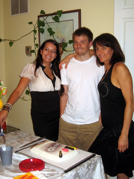 Olivia with her mother and brother.