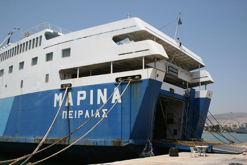 2011 - F/B MARINA rusted laid up in Piraeus waiting for scrap.