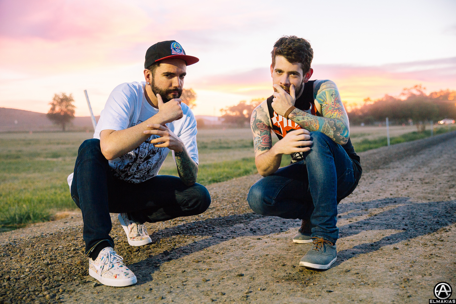 Jeremy McKinnon and Alex Shelnutt of A Day To Remember at Loudwire Festival in Grand Junction, CO