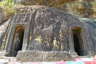 GUDAUNG BUDDHIST CAVES and VILLAGE