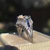 Art Deco Sapphire and Diamond Mounting 9