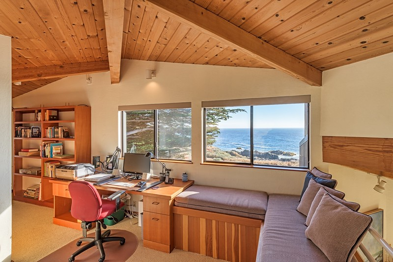 Upstairs Loft Office with Ocean Views