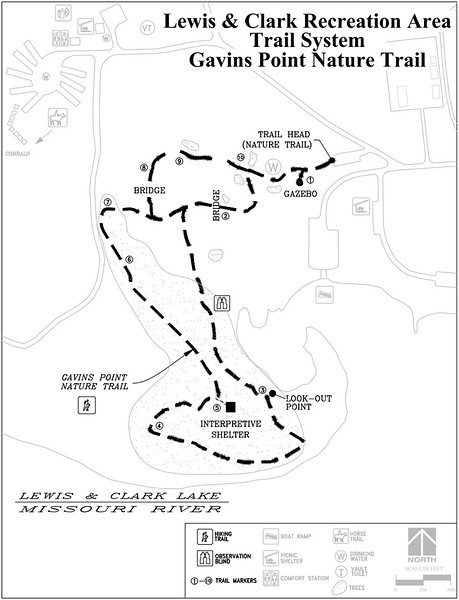 Lewis and Clark Recreation Area (Trail Map - Gavin's Point)