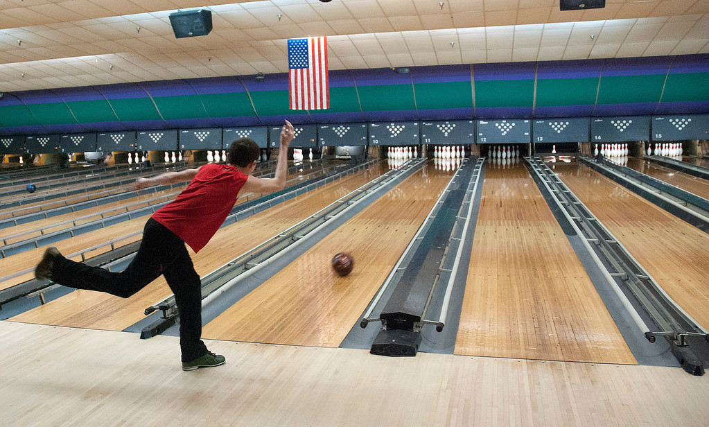 . Kayla Rice/Reformer Tyrus Cobb, 14, of Vernon bowls at Brattleboro Bowl on Tuesday afternoon.