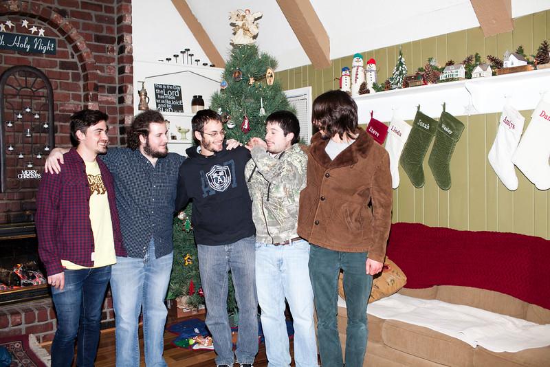 Dec. 29, 2014. Josh not sure he wanted hands on his shoulders.