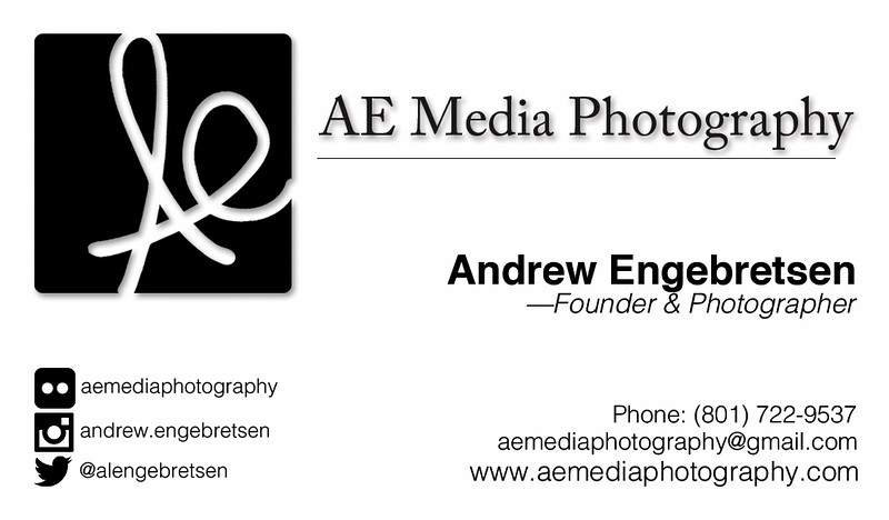 AE Media Photography Business Card