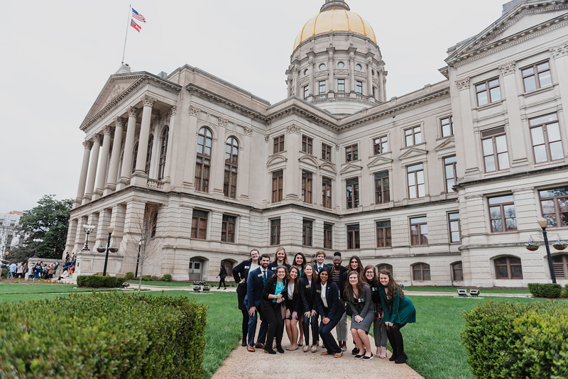 Georgia College students attend GC Day at the Capitol.