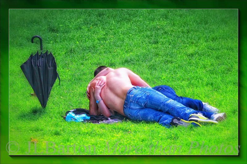 In the spring A young couple's thought turn to being together in the meadows of the Bisamberg in Vienna P.S.  Damp grass and intermittent rain