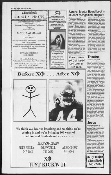 Daily Trojan, Vol. 119, No. 9, January 26, 1993