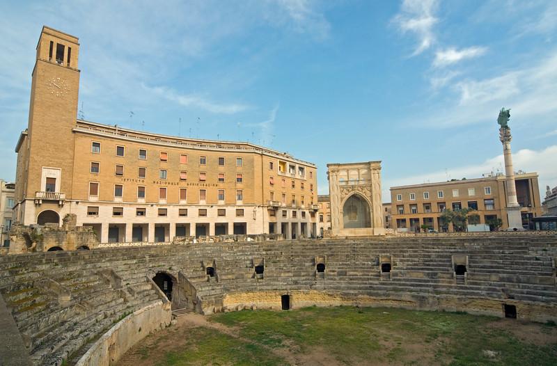 Roman Theatre and INA, Sant'Oronzo Sq., Lecce, Puglia, Italy
