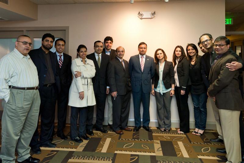 Group photo with Ambassador Haqqani