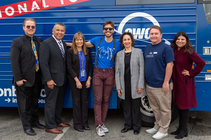 2019_02_01, Bus, CA, Exterior, Iris Levine, Josh Greene, Laura Solis, Michael Millar, OWC, Pomona, Pomona High School, Richard Martinez, Richard Wright, Roberta Perlman