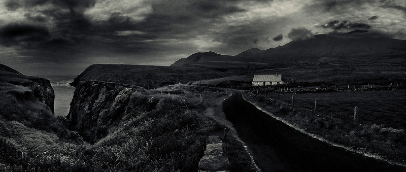 Lonely house by the side of the road.
