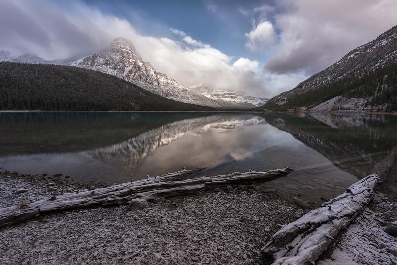 Waterfowl Lake logs