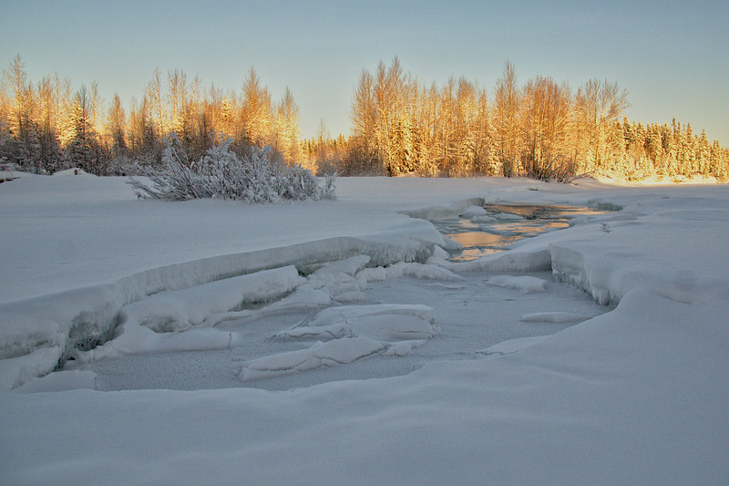 The not totatally frozen Chena River
