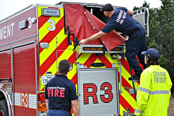 Leander & Cedar Park Fire Dept's working together