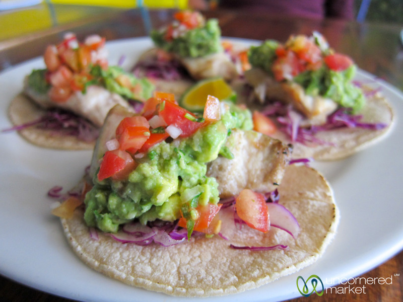 Fish Tacos at Cafe Milagro - Manuel Antonio, Costa Rica