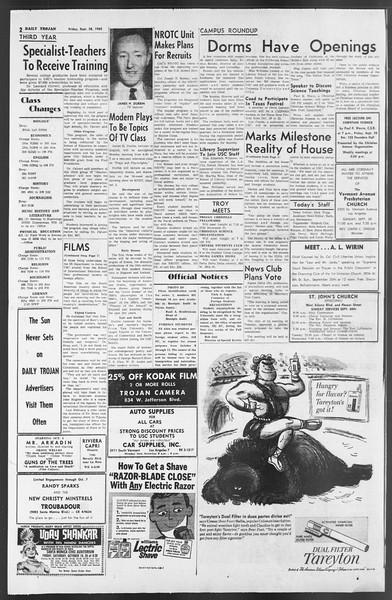 Daily Trojan, Vol. 54, No. 5, September 28, 1962