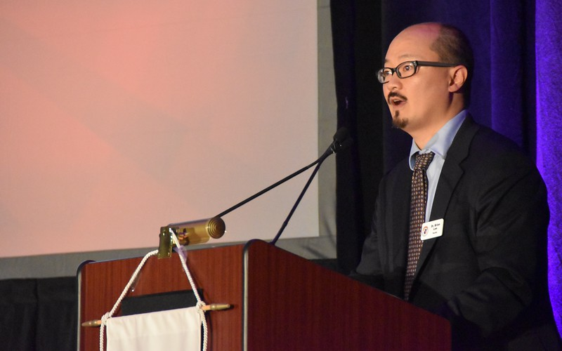 Dr. Brian Lee, SHSST Assistant Professor of Sacred Scripture, was the emcee of the symposium