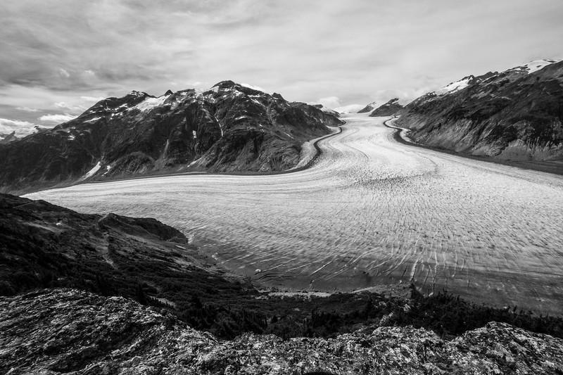 Salmon Glacier, B&W