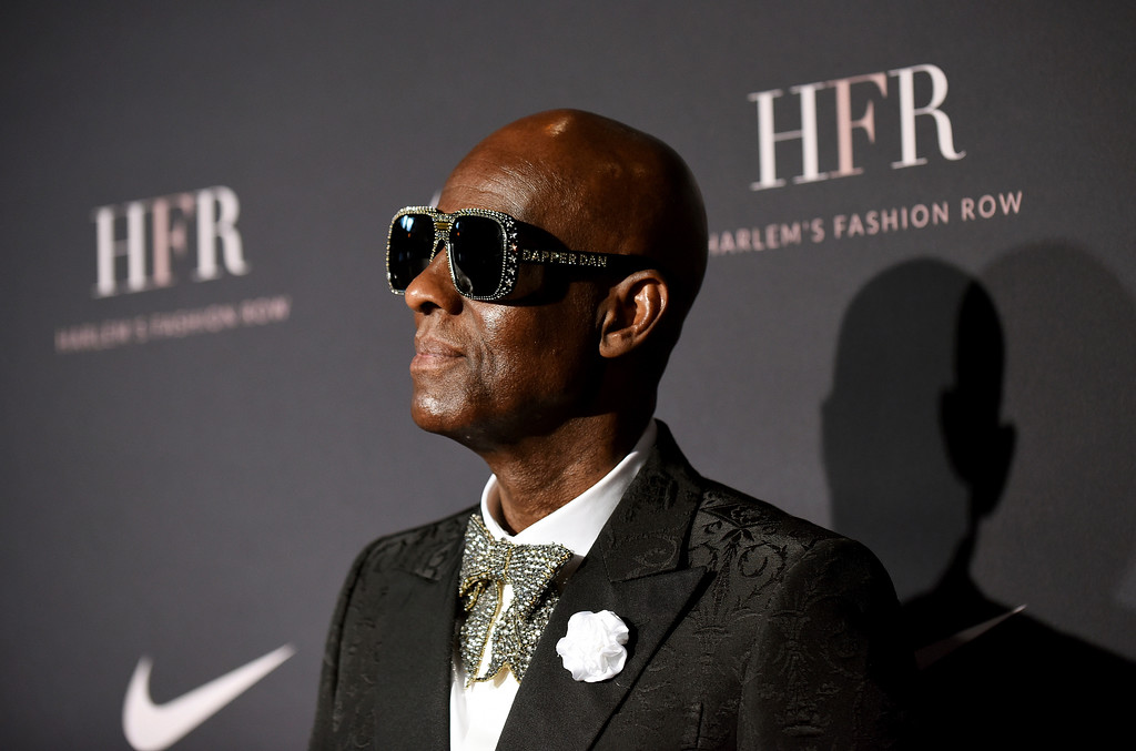 . Honoree and fashion icon Dapper Dan attends a fashion show and awards ceremony held by the Harlem Fashion Row collective and Nike before the start of New York Fashion Week, Tuesday, Sept. 4, 2018. (AP Photo/Diane Bondareff)