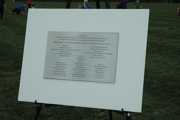 Alumni Lacrosse Field Dedication