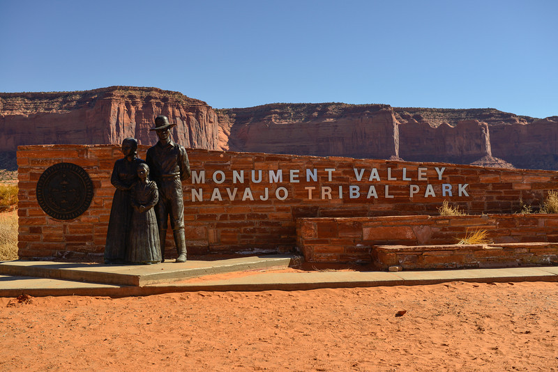 Entrance to Monument Valley