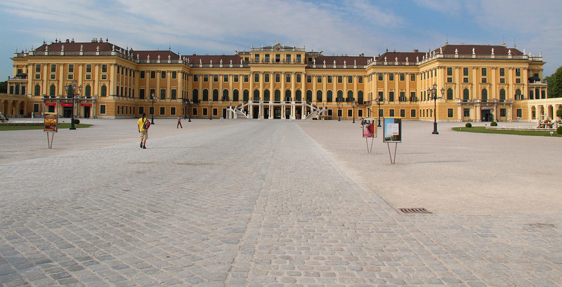 Schoenbrunn Palace, Vienna. Like many European Palaces, it was inspired by the incomparable Palace at Versailles, France, which we saw last year.
