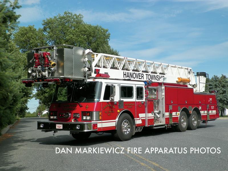 HANOVER TOWNSHIP VOLUNTEER FIRE CO. TOWER 1521 1992 SIMON DUPLEX/LTI TOWER LADDER