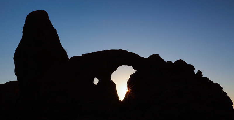 Sunset Through Turret Arch