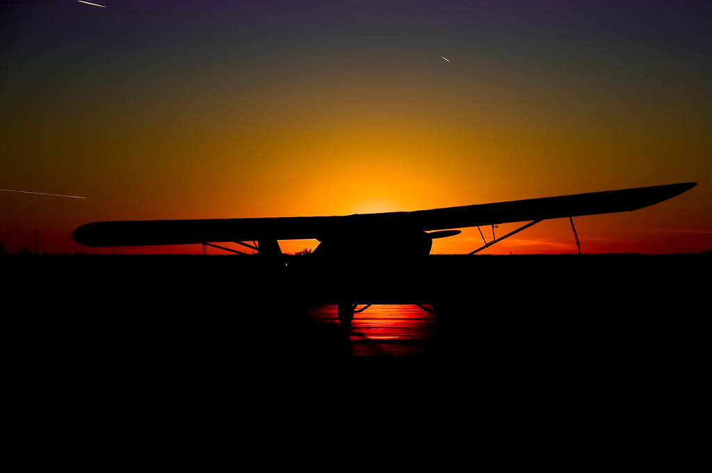 Sunset @ Lebanon, MO airport.
