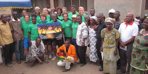 2013 Women's Basketball Team trip to Ghana (Service)