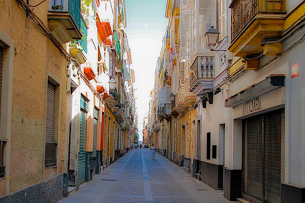 Streeet View, Cadiz, Spain