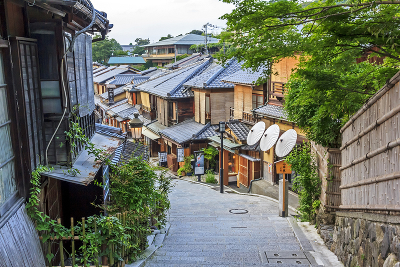 Sannen-zaka street, Southern Higashiyama area. Editorial credit: Greir / Shutterstock.com