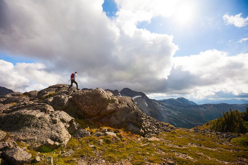 Hiking, British Columbia.