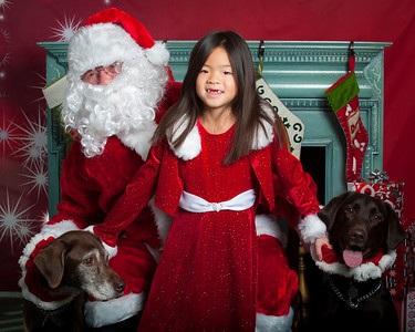 2013-12-01 All Creatures Photos With Santa