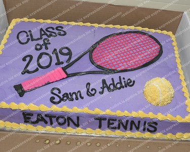 Girls Tennis Senior Night 2018-19