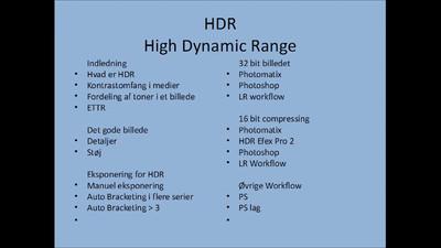 HDR Kursus