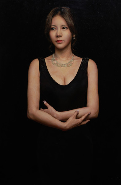 """""""Madame X"""" (oil on canvas) by Chang Wan Jin"""