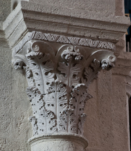 Saulieu Abbey of Saint-Androche Acanthus Leaves Capital