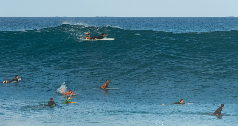 Wave waiting at Pipeline