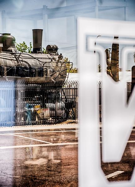 Train in Window
