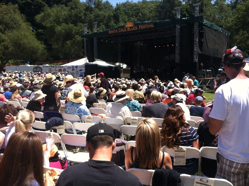 . Perfect Saturday for the opening of the Blue Festival in Aptos. Photo from Shanna McCord via twitter.