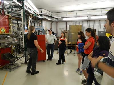 MSU Cyclotron Lab tour
