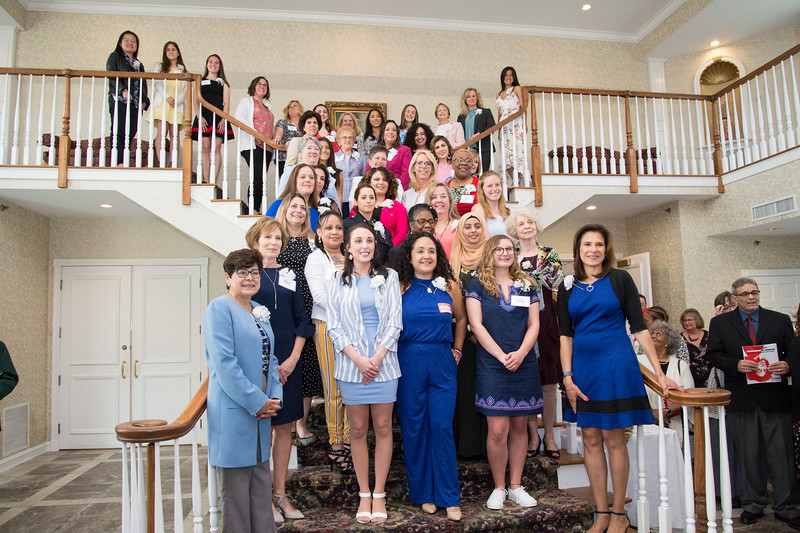 05/09/19  Wesley Bunnell | Staff  The New Britain YWCA held their Women in Leadership Luncheon on May 9th at the Aqua Turf in Southington. Honorees line the staircase at the end of the event.