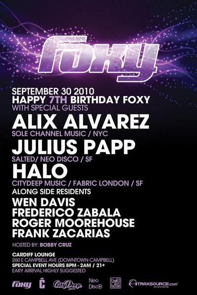 Foxy Thursdays @ Cardiff Lounge 9.30.10