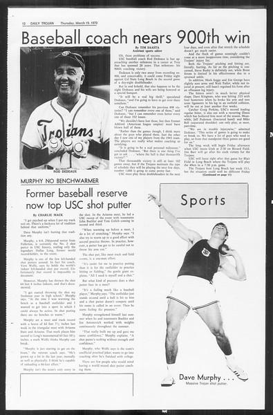 Daily Trojan, Vol. 61, No. 95, March 19, 1970