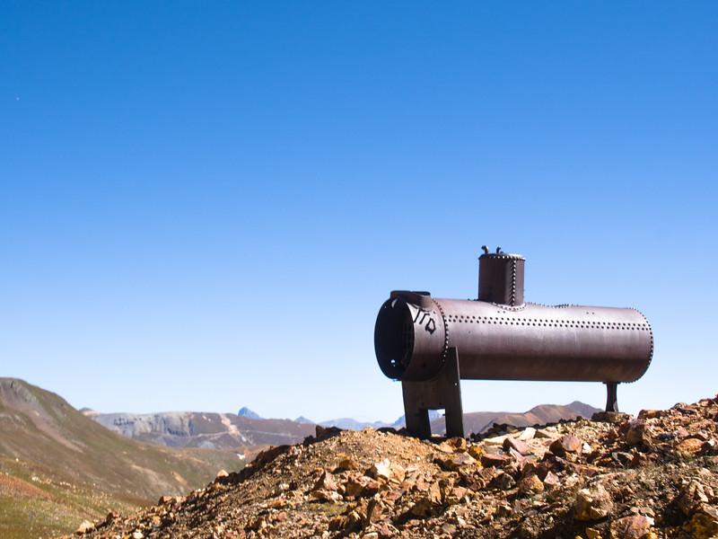 An old steam boiler