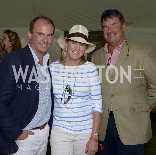 Rupert Lewis and Karen and David O'Connor, Orange County Huntsman Reg Spreadborough and hounds,  NSLM 2019 Polo Classic Great Meadow Sep 15 2019 Photo by Nancy Milburn Kleck